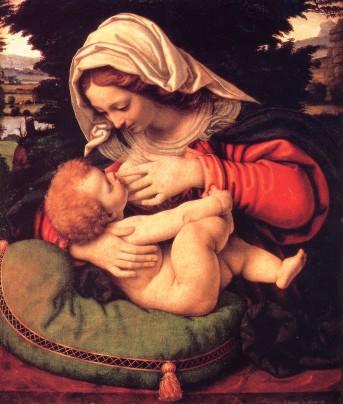 Madonna che allatta